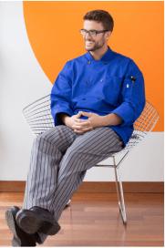 Chef pants black and grey chevron