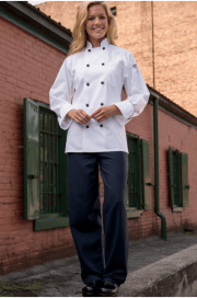 Chef pants black and navy houndstooth
