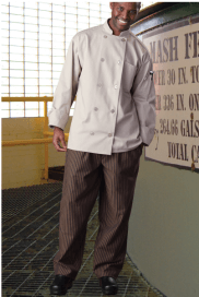 Chef pants copper with black stripe