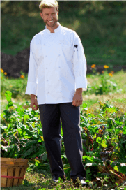 Chef pants grey with triple stripe
