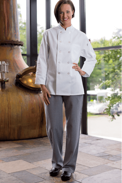 Chef pants houndstooth
