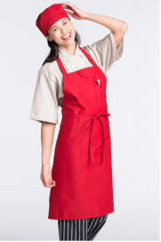 Aprons red